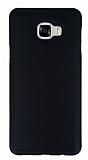 Eiroo Smother Samsung Galaxy C5 Silikon Kenarlı Siyah Deri Kılıf