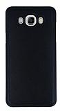 Eiroo Smother Samsung Galaxy J7 2016 Silikon Kenarlı Siyah Deri Kılıf