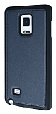 Eiroo Smother Samsung Galaxy Note Edge Silikon Kenarlı Siyah Deri Kılıf