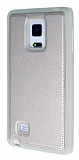 Eiroo Smother Samsung Galaxy Note Edge Silikon Kenarlı Gold Deri Kılıf