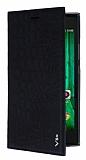 Eiroo Snake Casper Via V6X Gizli Mıknatıslı Yan Kapaklı Siyah Deri Kılıf