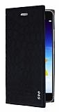 Lenovo S90 Snake Gizli Mıknatıslı Kapaklı Siyah Deri Kılıf