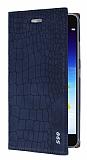 Lenovo S90 Snake Gizli Mıknatıslı Kapaklı Lacivert Deri Kılıf