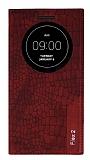 LG G Flex 2 Snake Gizli Mıknatıslı Pencereli Kırmızı Kılıf