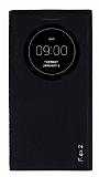 Eiroo Snake LG G Flex 2 Gizli Mıknatıslı Pencereli Siyah Kılıf