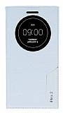 Eiroo Snake LG G Flex 2 Gizli Mıknatıslı Pencereli Beyaz Kılıf