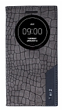 Eiroo Snake LG G Flex 2 Gizli Mıknatıslı Pencereli Gri Kılıf