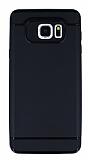 Eiroo Soft Samsung Galaxy Note 5 Siyah Kenarlı Siyah Silikon Kılıf