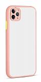 Eiroo Soft Touch iPhone 11 Pro Ultra Koruma Pembe Kılıf
