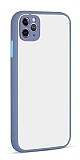 Eiroo Soft Touch iPhone 11 Pro Ultra Koruma Mavi Kılıf