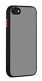 Eiroo Soft Touch iPhone 7 / 8 Ultra Koruma Siyah Kılıf