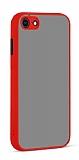 Eiroo Soft Touch iPhone 7 / 8 Ultra Koruma Kırmızı Kılıf