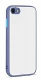 Eiroo Soft Touch iPhone 7 / 8 Ultra Koruma Mavi Kılıf