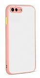 Eiroo Soft Touch iPhone 7 Plus / 8 Plus Ultra Koruma Pembe Kılıf