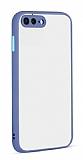Eiroo Soft Touch iPhone 7 Plus / 8 Plus Ultra Koruma Mavi Kılıf