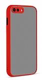 Eiroo Soft Touch iPhone 7 Plus / 8 Plus Ultra Koruma Kırmızı Kılıf