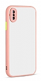 Eiroo Soft Touch iPhone X / XS Ultra Koruma Pembe Kılıf