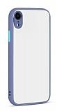 Eiroo Soft Touch iPhone XR Ultra Koruma Mavi Kılıf