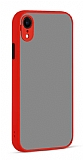 Eiroo Soft Touch iPhone XR Ultra Koruma Kırmızı Kılıf