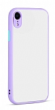 Eiroo Soft Touch iPhone XR Ultra Koruma Lila Kılıf