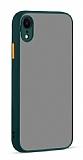 Eiroo Soft Touch iPhone XR Ultra Koruma Yeşil Kılıf