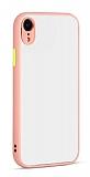 Eiroo Soft Touch iPhone XR Ultra Koruma Pembe Kılıf