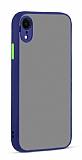 Eiroo Soft Touch iPhone XR Ultra Koruma Lacivert Kılıf