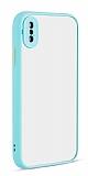 Eiroo Soft Touch iPhone XS Max Ultra Koruma Turkuaz Kılıf