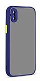 Eiroo Soft Touch iPhone XS Max Ultra Koruma Lacivert Kılıf