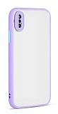 Eiroo Soft Touch iPhone XS Max Ultra Koruma Lila Kılıf