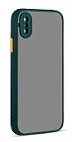 Eiroo Soft Touch iPhone XS Max Ultra Koruma Yeşil Kılıf