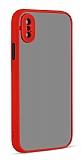 Eiroo Soft Touch iPhone XS Max Ultra Koruma Kırmızı Kılıf