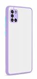 Eiroo Soft Touch Samsung Galaxy A31 Ultra Koruma Lila Kılıf