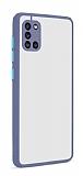 Eiroo Soft Touch Samsung Galaxy A31 Ultra Koruma Mavi Kılıf