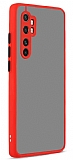 Eiroo Soft Touch Xiaomi Mi Note 10 Lite Ultra Koruma Kırmızı Kılıf