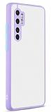 Eiroo Soft Touch Xiaomi Mi Note 10 Lite Ultra Koruma Lila Kılıf