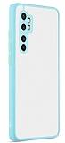 Eiroo Soft Touch Xiaomi Mi Note 10 Lite Ultra Koruma Turkuaz Kılıf