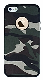 Eiroo Soldier iPhone SE / 5 / 5S Yeşil Silikon Kılıf