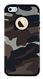 Eiroo Soldier iPhone SE / 5 / 5S Kahverengi Silikon Kılıf