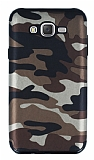 Eiroo Soldier Samsung Galaxy J7 Kahverengi Silikon Kılıf