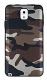 Eiroo Soldier Samsung Galaxy Note 3 Kahverengi Silikon Kılıf