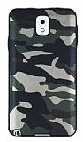 Eiroo Soldier Samsung Galaxy Note 3 Yeşil Silikon Kılıf