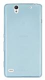 Eiroo Sony Xperia C4 Ultra �nce �effaf Su Ye�ili Silikon K�l�f