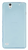 Sony Xperia C4 Ultra İnce Şeffaf Su Yeşili Silikon Kılıf