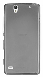 Sony Xperia C4 Ultra İnce Şeffaf Siyah Silikon Kılıf