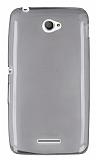 Sony Xperia E4 Ultra İnce Şeffaf Siyah Silikon Kılıf