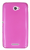 Eiroo Sony Xperia E4 Ultra �nce �effaf Pembe Silikon K�l�f