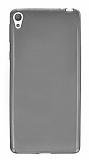 Sony Xperia E5 Ultra İnce Şeffaf Siyah Silikon Kılıf