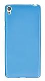 Sony Xperia E5 Ultra İnce Şeffaf Mavi Silikon Kılıf