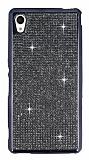 Eiroo Sony Xperia M4 Aqua Taşlı Siyah Silikon Kılıf